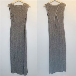 Free People | Grey Maxi Dress with back Keyhole